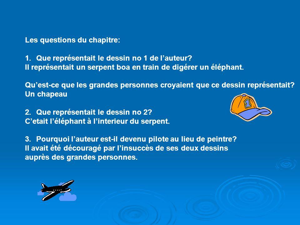 Les questions du chapitre: