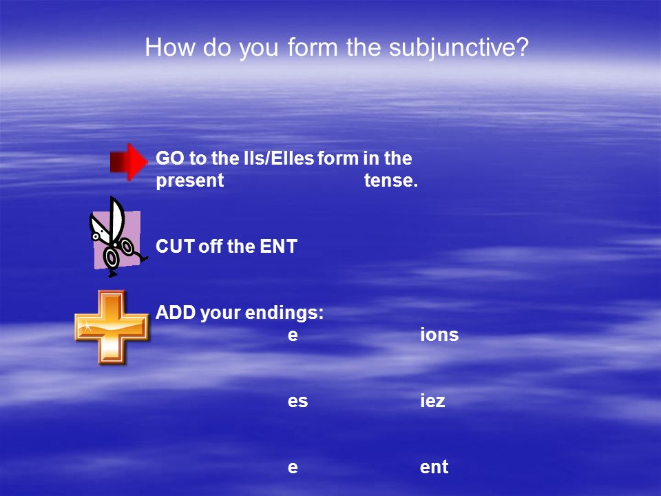 How do you form the subjunctive
