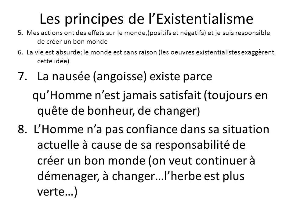 Les principes de l'Existentialisme
