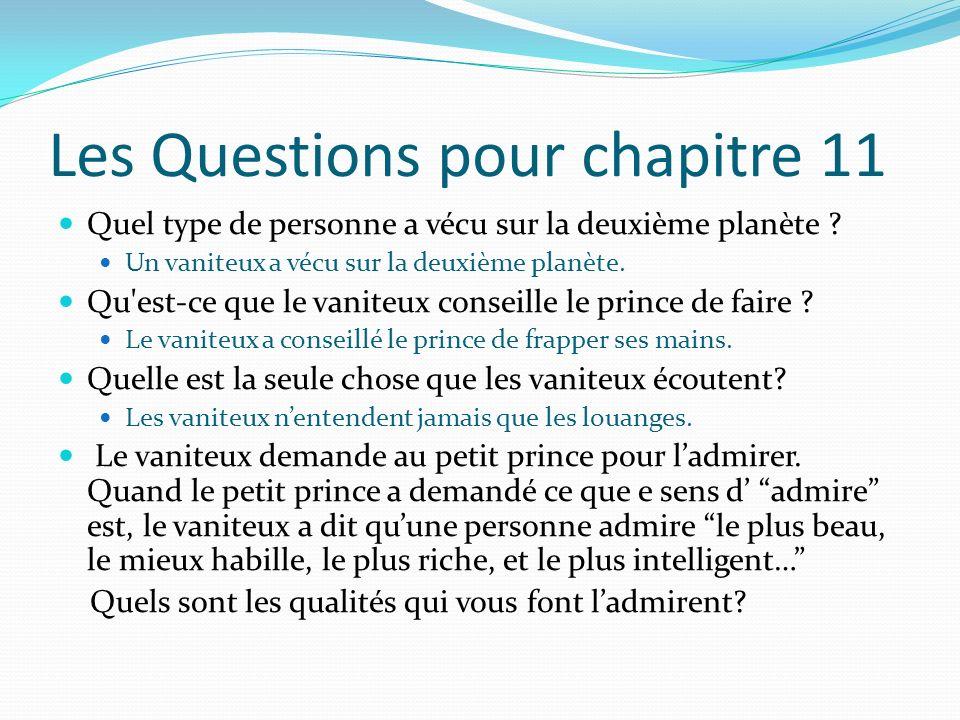 Les Questions pour chapitre 11
