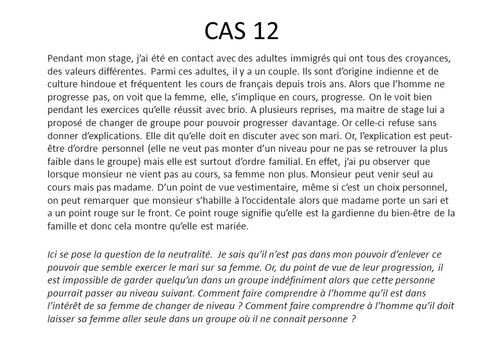 CAS 12
