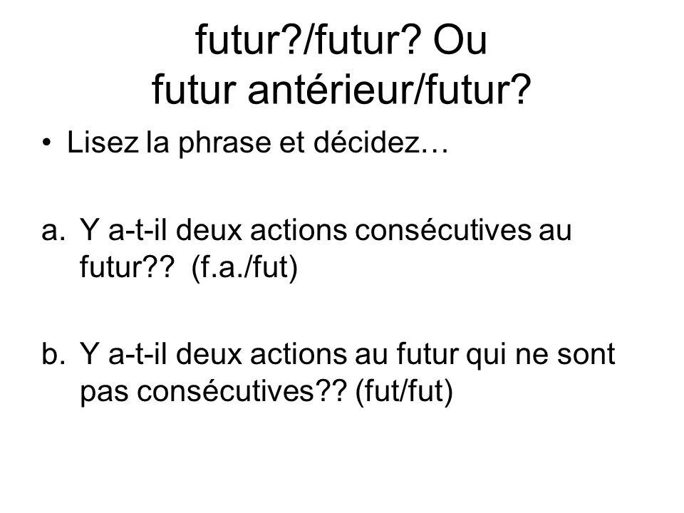 futur /futur Ou futur antérieur/futur