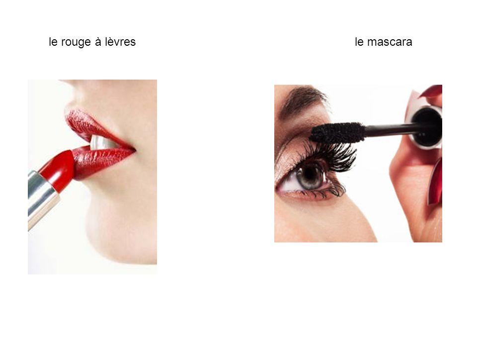 le rouge à lèvres le mascara