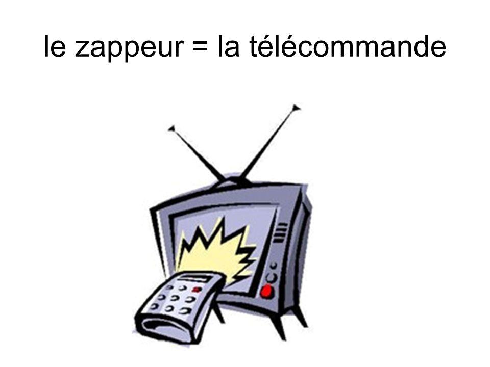 le zappeur = la télécommande