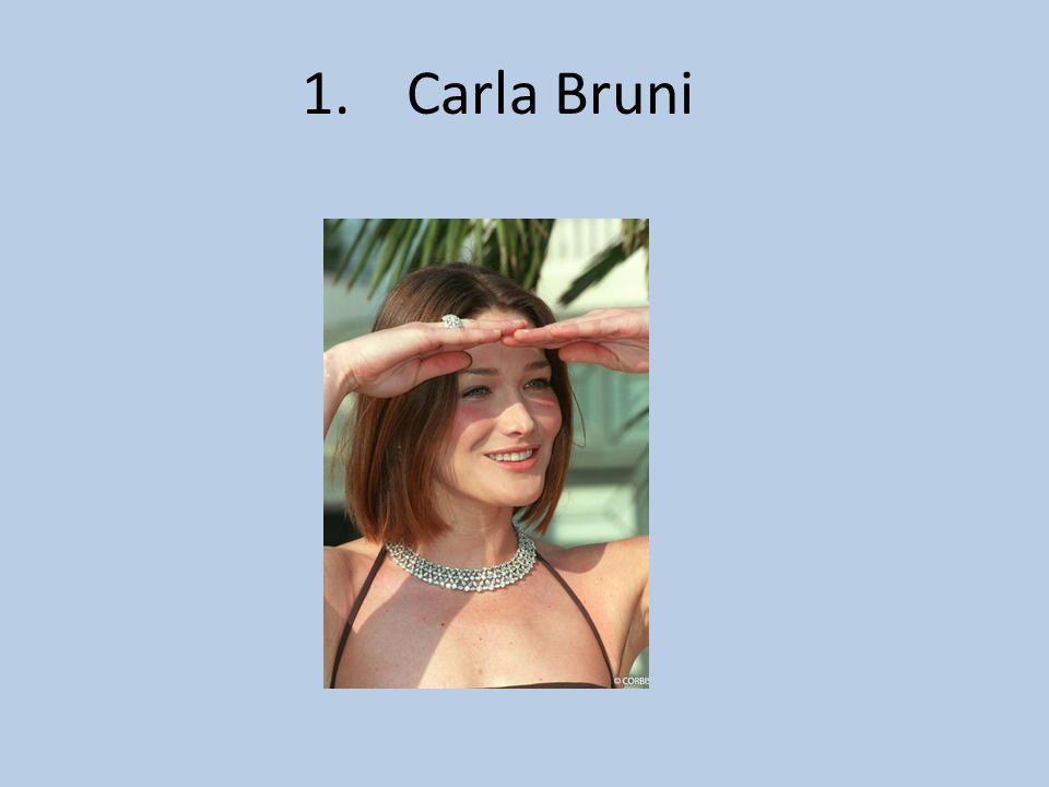1. Carla Bruni
