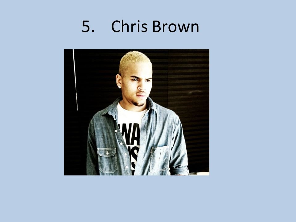 5. Chris Brown