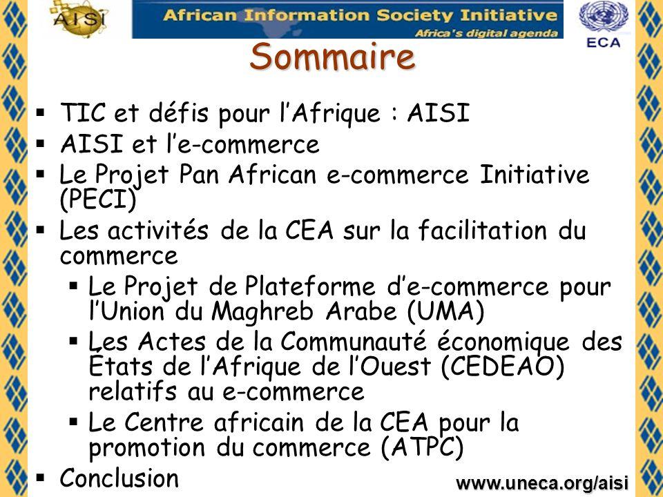 Sommaire TIC et défis pour l'Afrique : AISI AISI et l'e-commerce