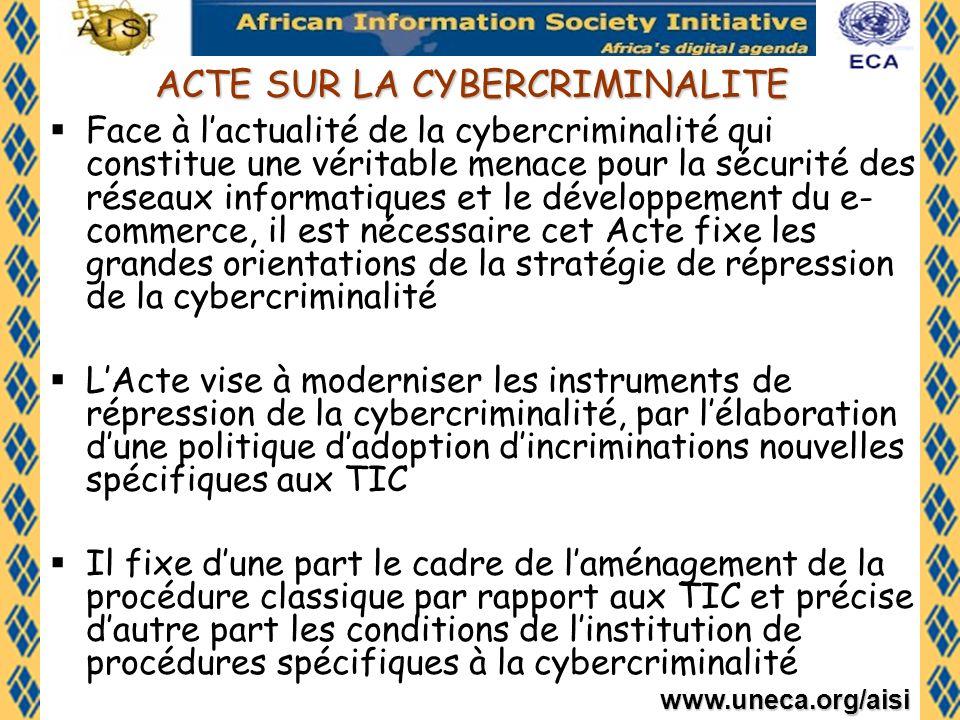 ACTE SUR LA CYBERCRIMINALITE
