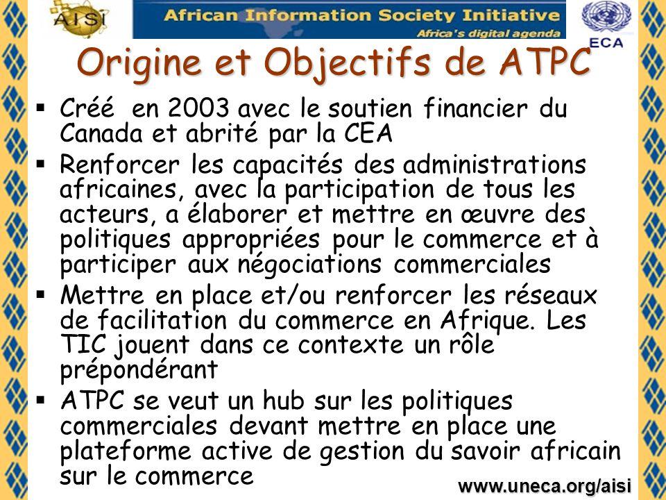 Origine et Objectifs de ATPC