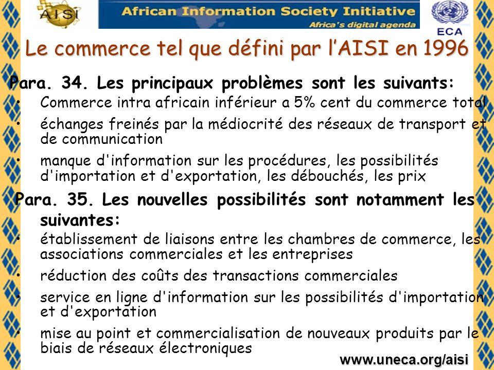 Le commerce tel que défini par l'AISI en 1996