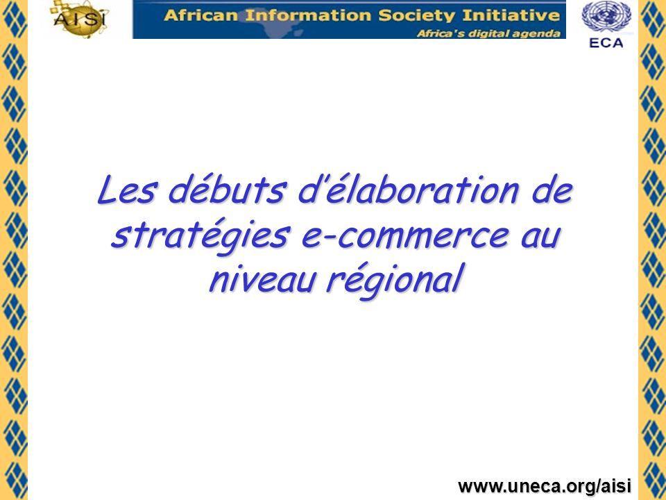 Les débuts d'élaboration de stratégies e-commerce au niveau régional