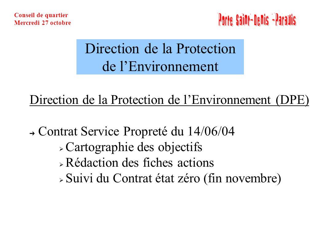 Direction de la Protection de l'Environnement