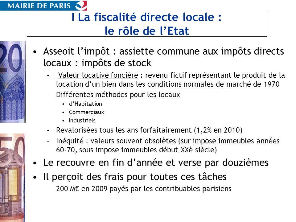 I La fiscalité directe locale : le rôle de l'Etat