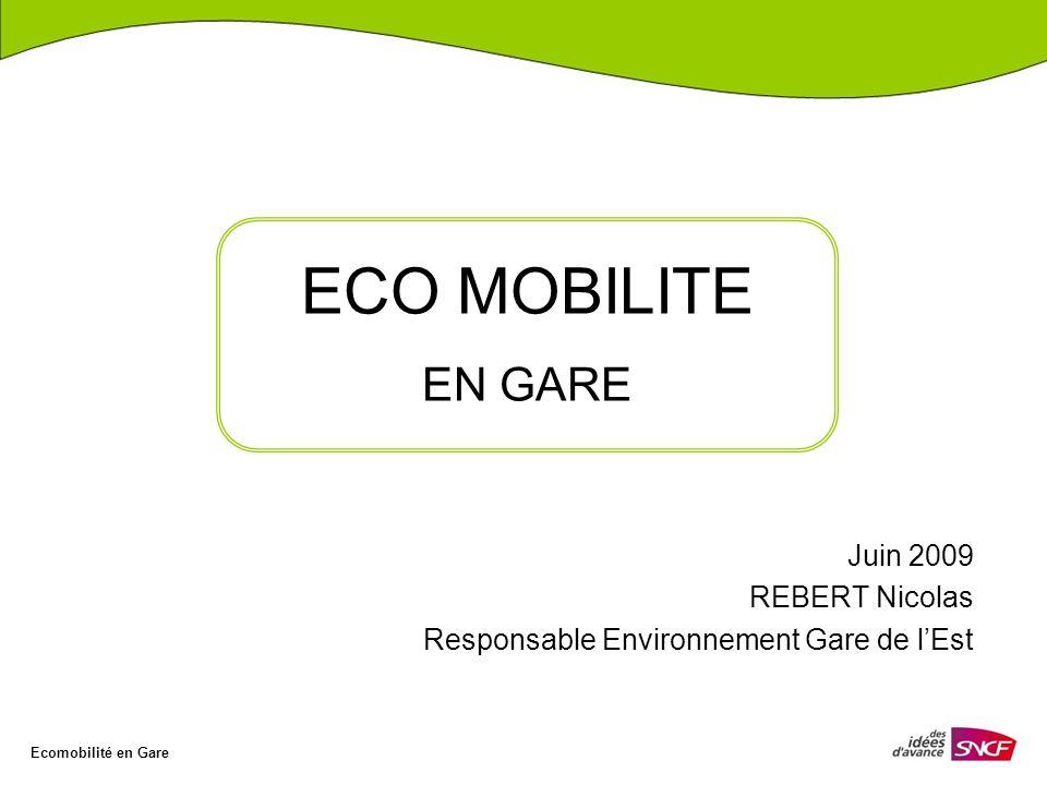 Juin 2009 REBERT Nicolas Responsable Environnement Gare de l'Est