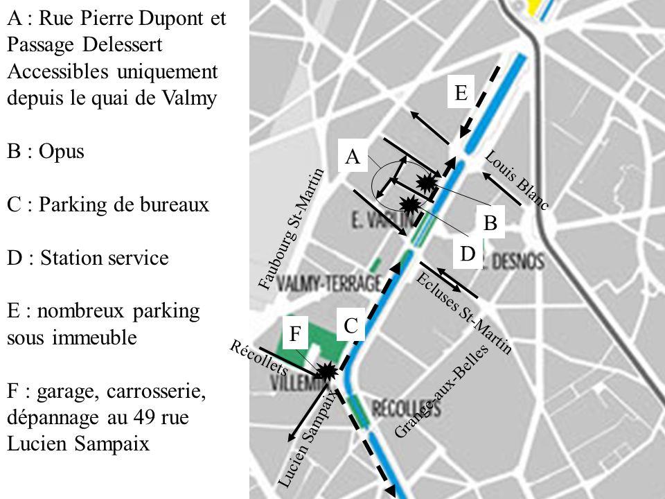 A : Rue Pierre Dupont et Passage Delessert