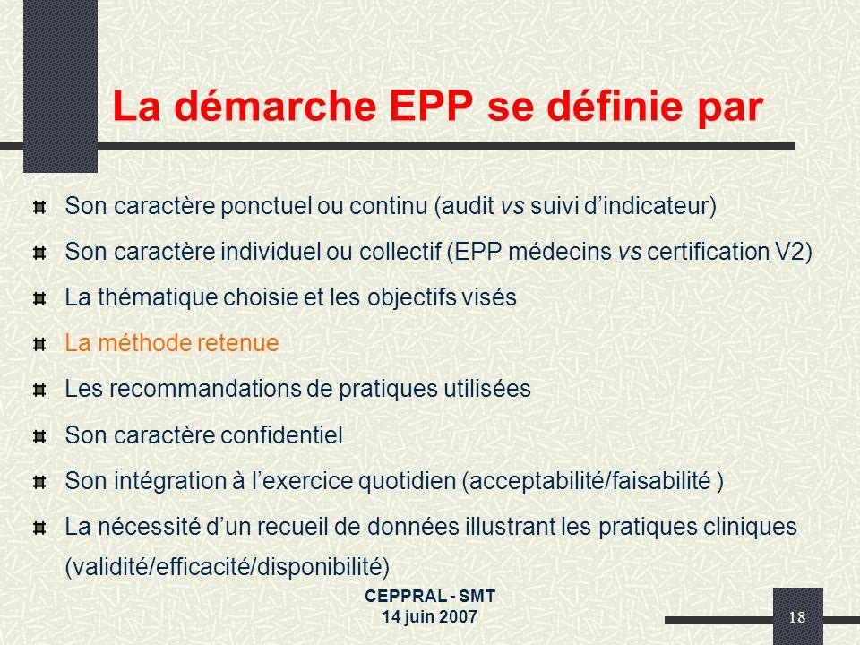 La démarche EPP se définie par