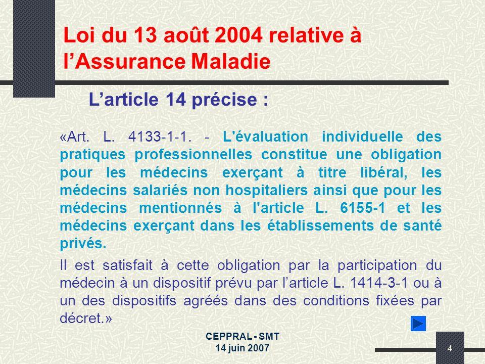 Loi du 13 août 2004 relative à l'Assurance Maladie
