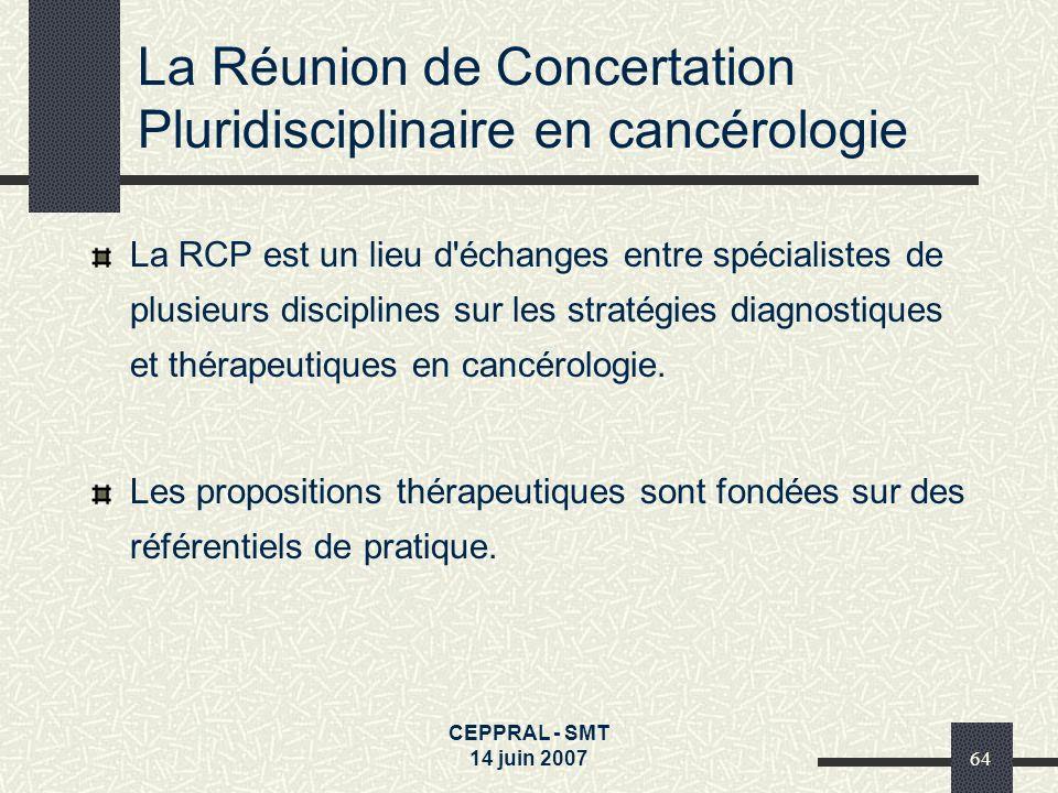 La Réunion de Concertation Pluridisciplinaire en cancérologie
