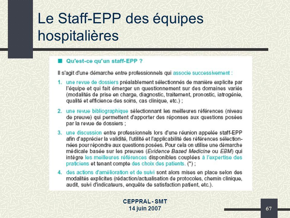 Le Staff-EPP des équipes hospitalières