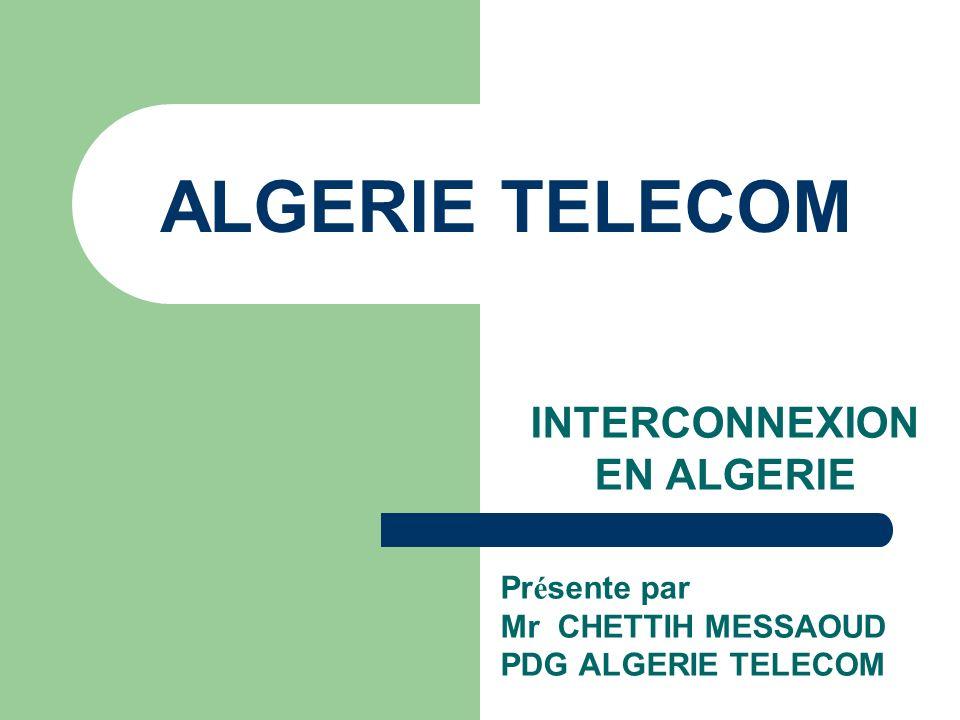INTERCONNEXION EN ALGERIE