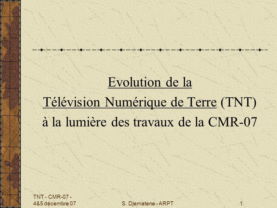 Télévision Numérique de Terre (TNT)