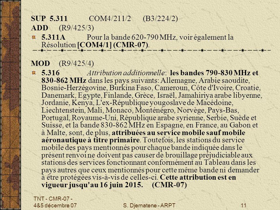 SUP 5.311 COM4/211/2 (B3/224/2) ADD (R9/425/3)