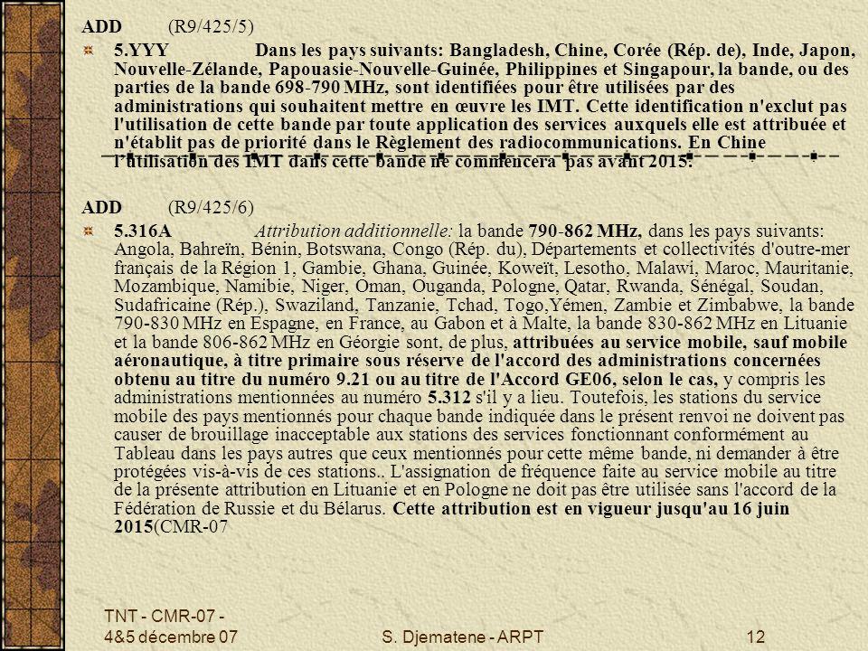ADD (R9/425/5)