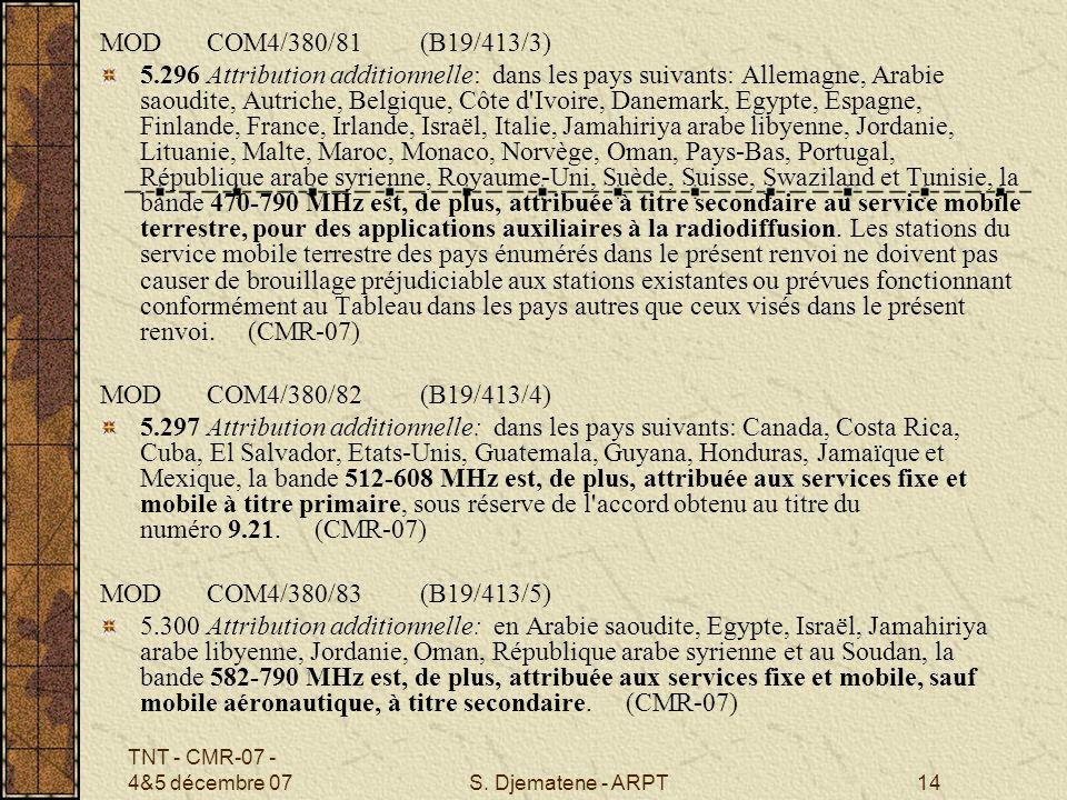 MOD COM4/380/81 (B19/413/3)