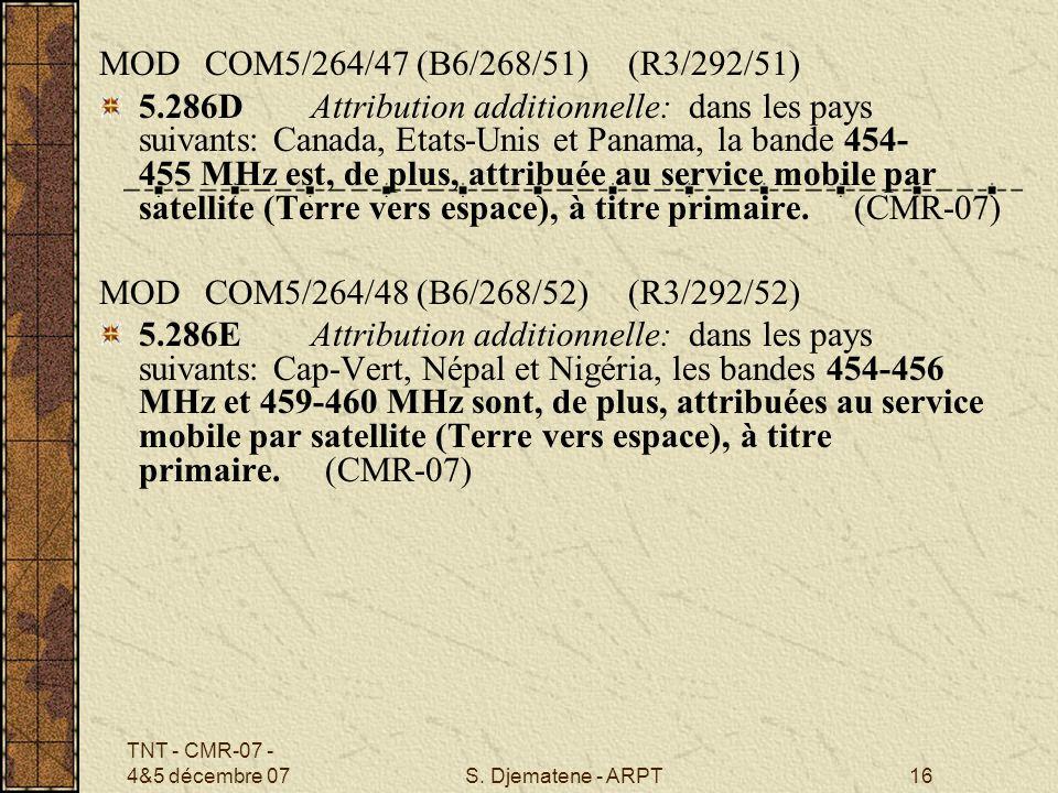 MOD COM5/264/47 (B6/268/51) (R3/292/51)