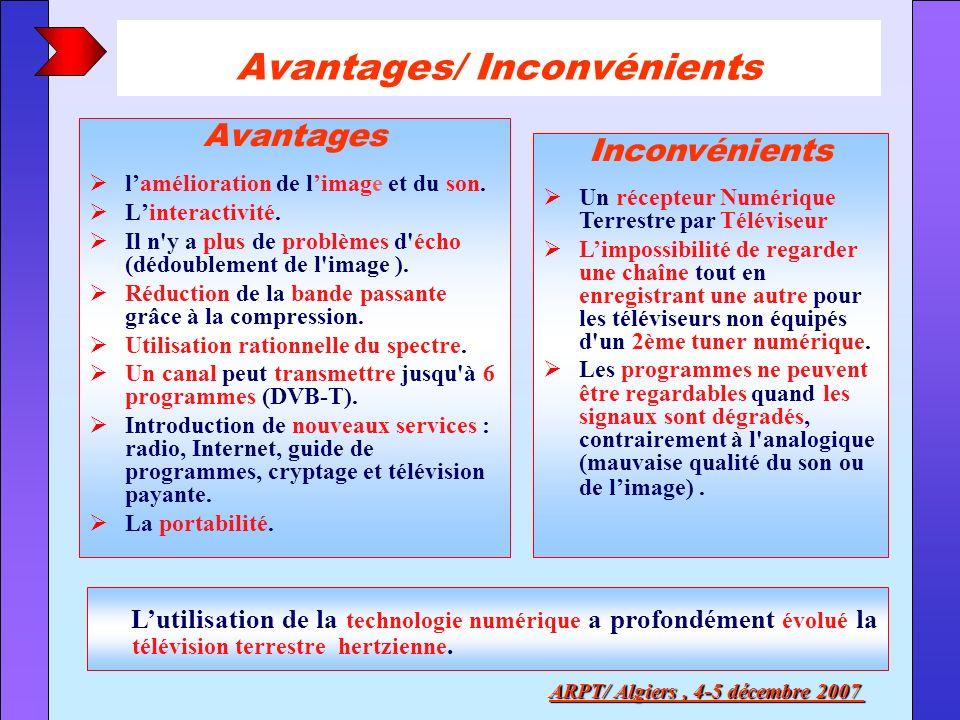 Avantages/ Inconvénients