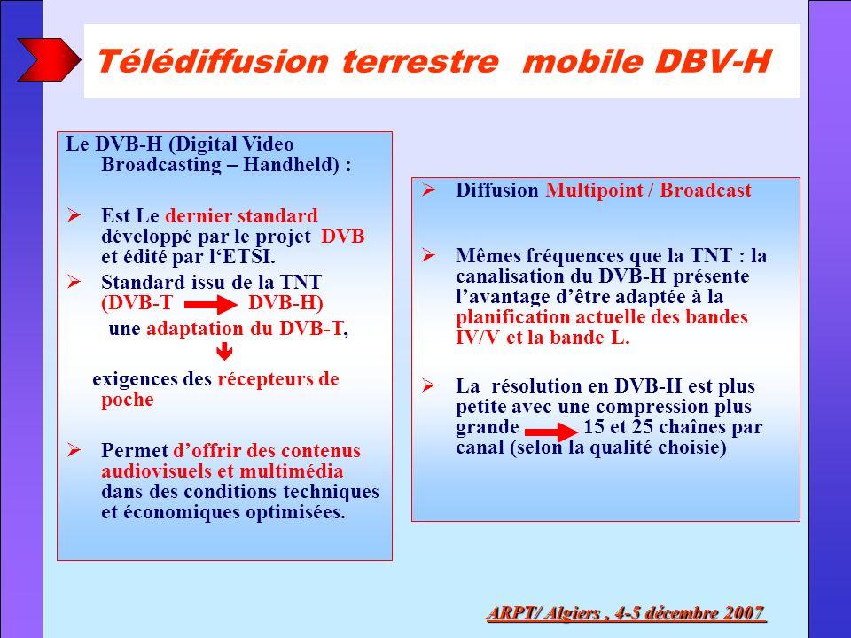 Télédiffusion terrestre mobile DBV-H