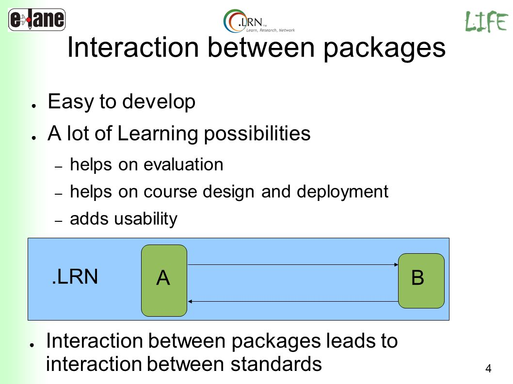 Interaction between packages