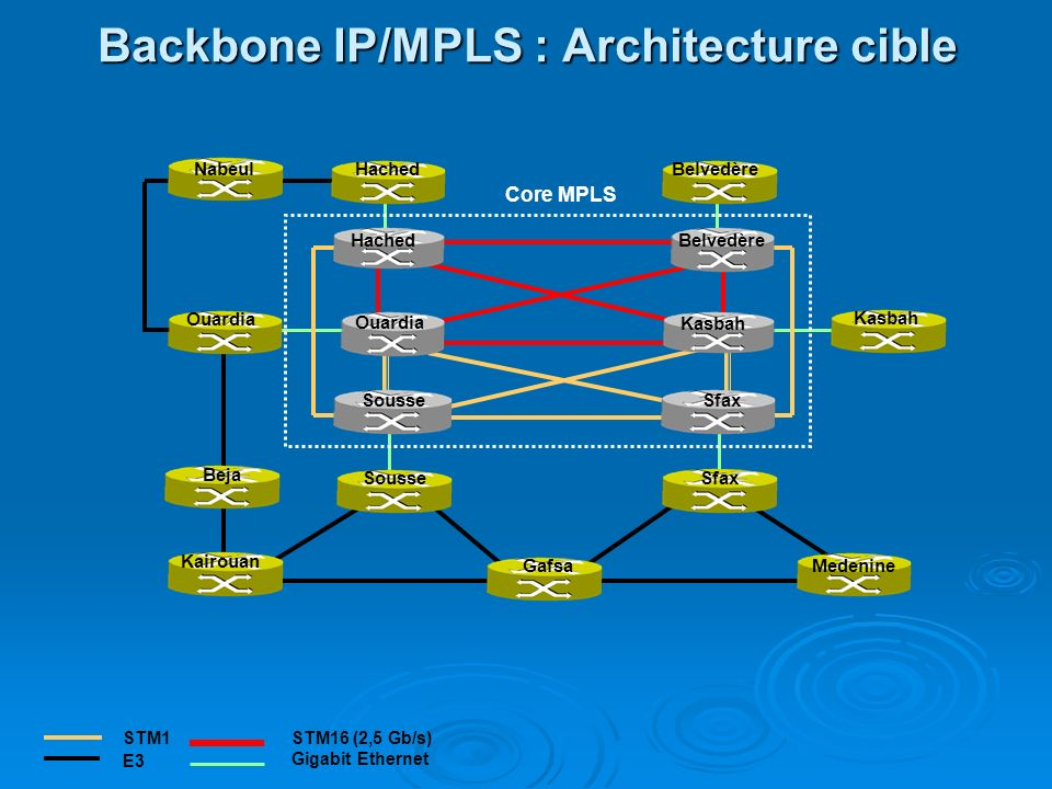 Backbone IP/MPLS : Architecture cible
