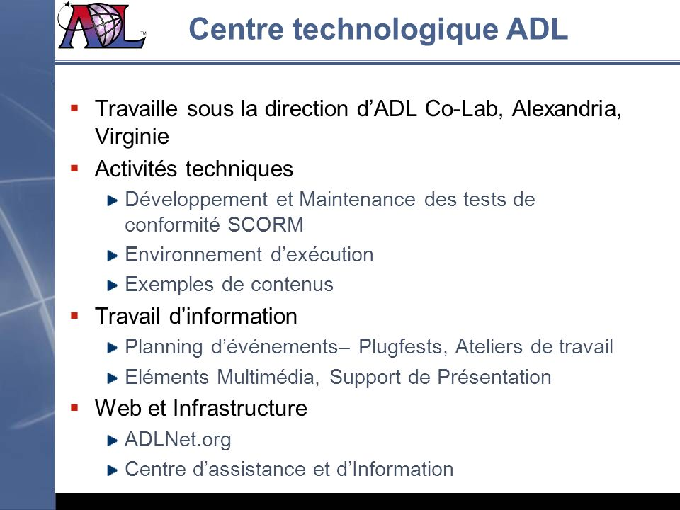 Centre technologique ADL