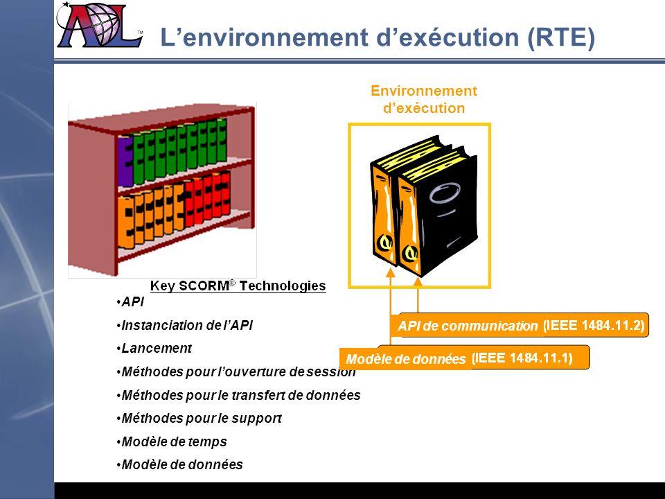 L'environnement d'exécution (RTE)