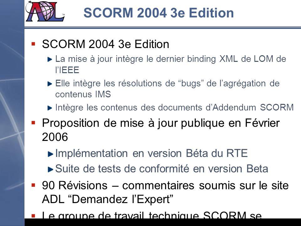SCORM 2004 3e Edition SCORM 2004 3e Edition
