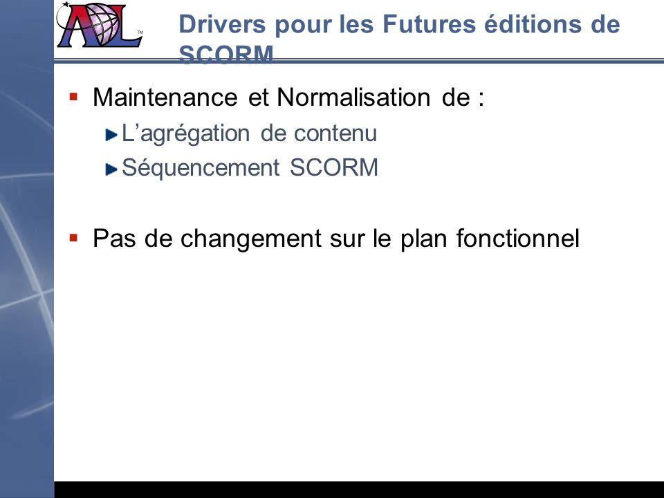 Drivers pour les Futures éditions de SCORM