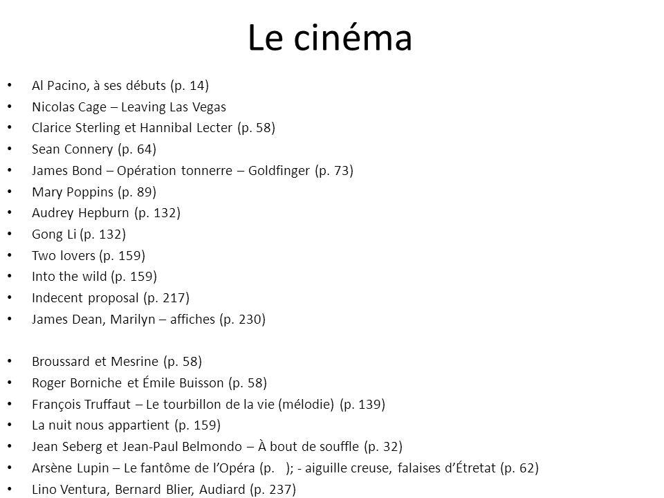 Le cinéma Al Pacino, à ses débuts (p. 14)