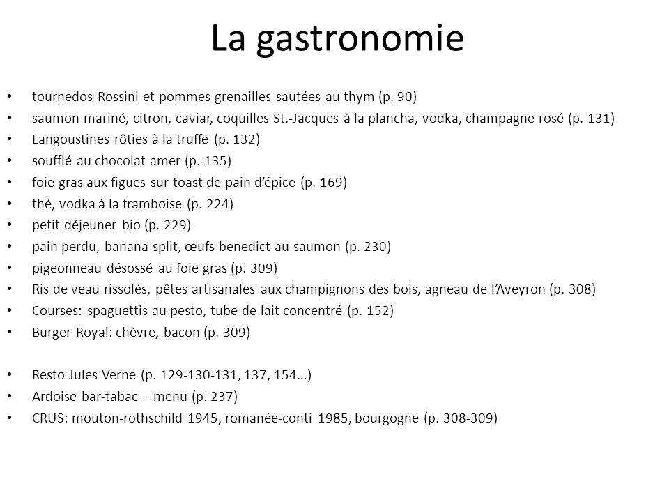 La gastronomie tournedos Rossini et pommes grenailles sautées au thym (p. 90)