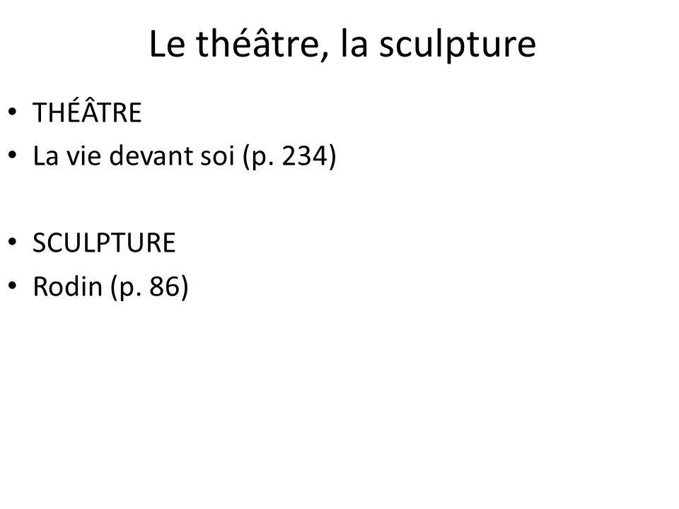 Le théâtre, la sculpture