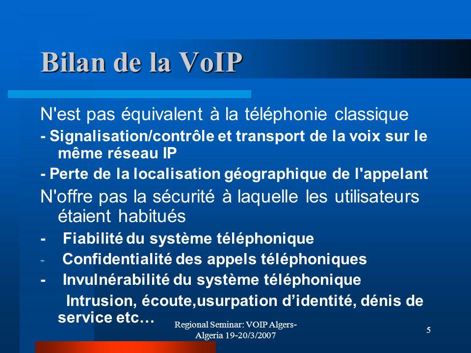 Regional Seminar: VOIP Algers- Algeria 19-20/3/2007