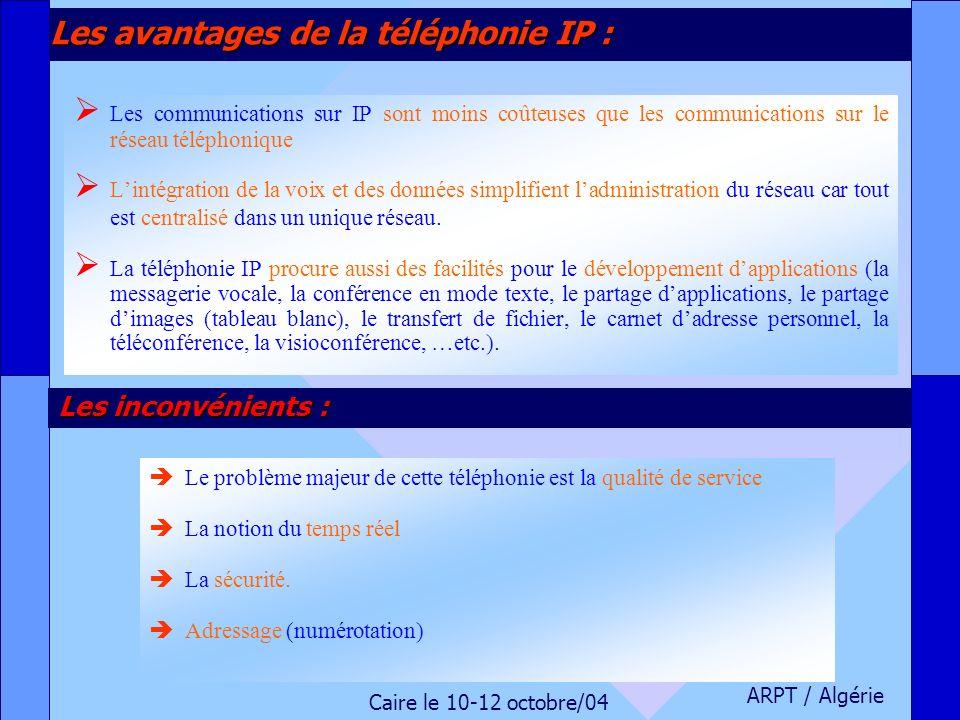 Les avantages de la téléphonie IP :