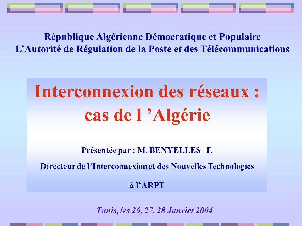 Interconnexion des réseaux : cas de l 'Algérie