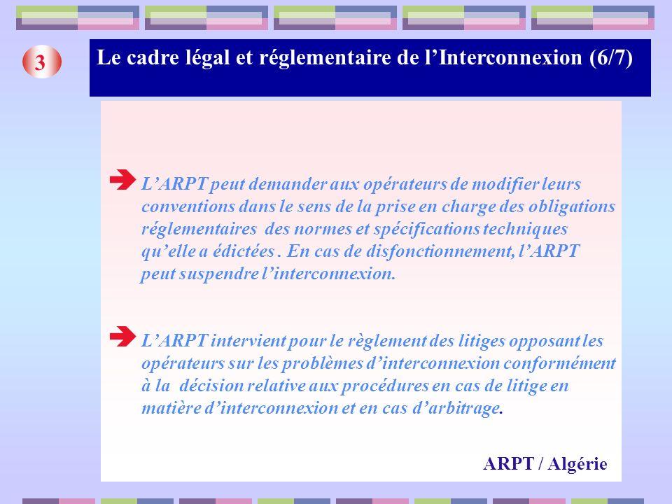 Le cadre légal et réglementaire de l'Interconnexion (6/7) 3