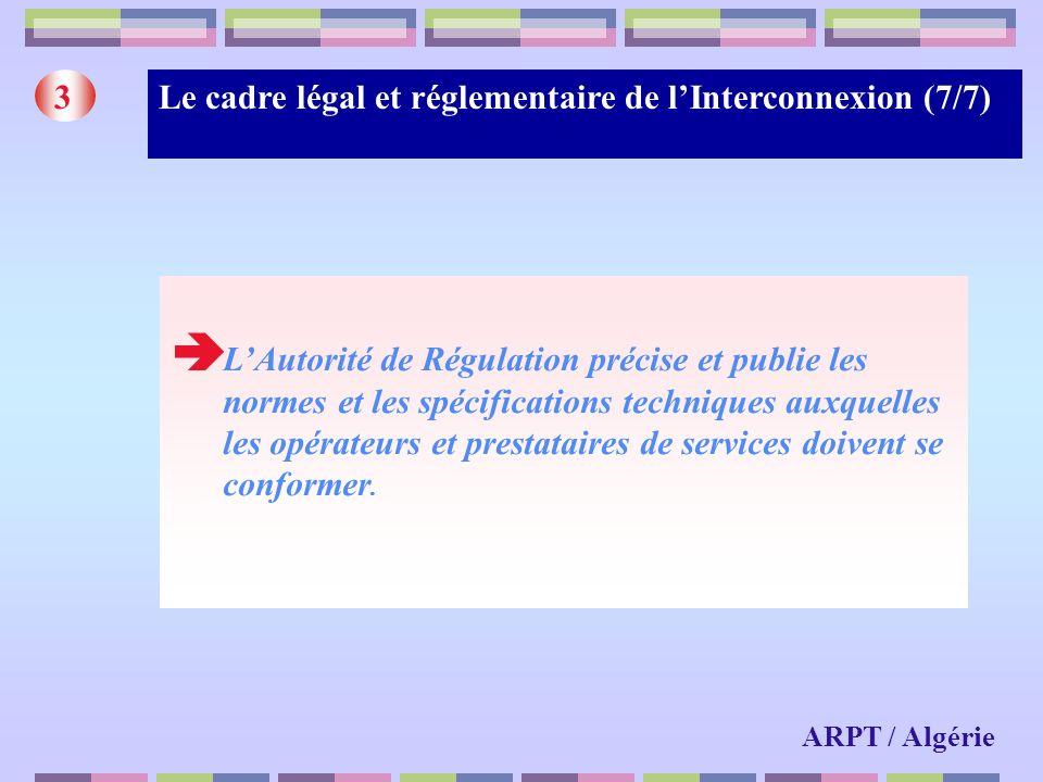 Le cadre légal et réglementaire de l'Interconnexion (7/7)