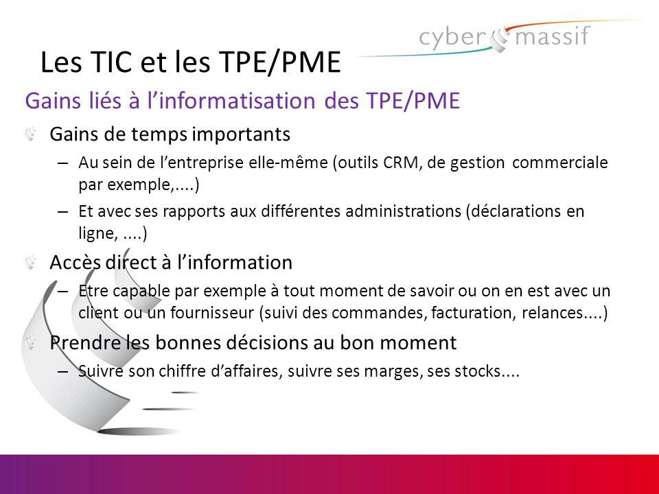 Les TIC et les TPE/PME Gains liés à l'informatisation des TPE/PME