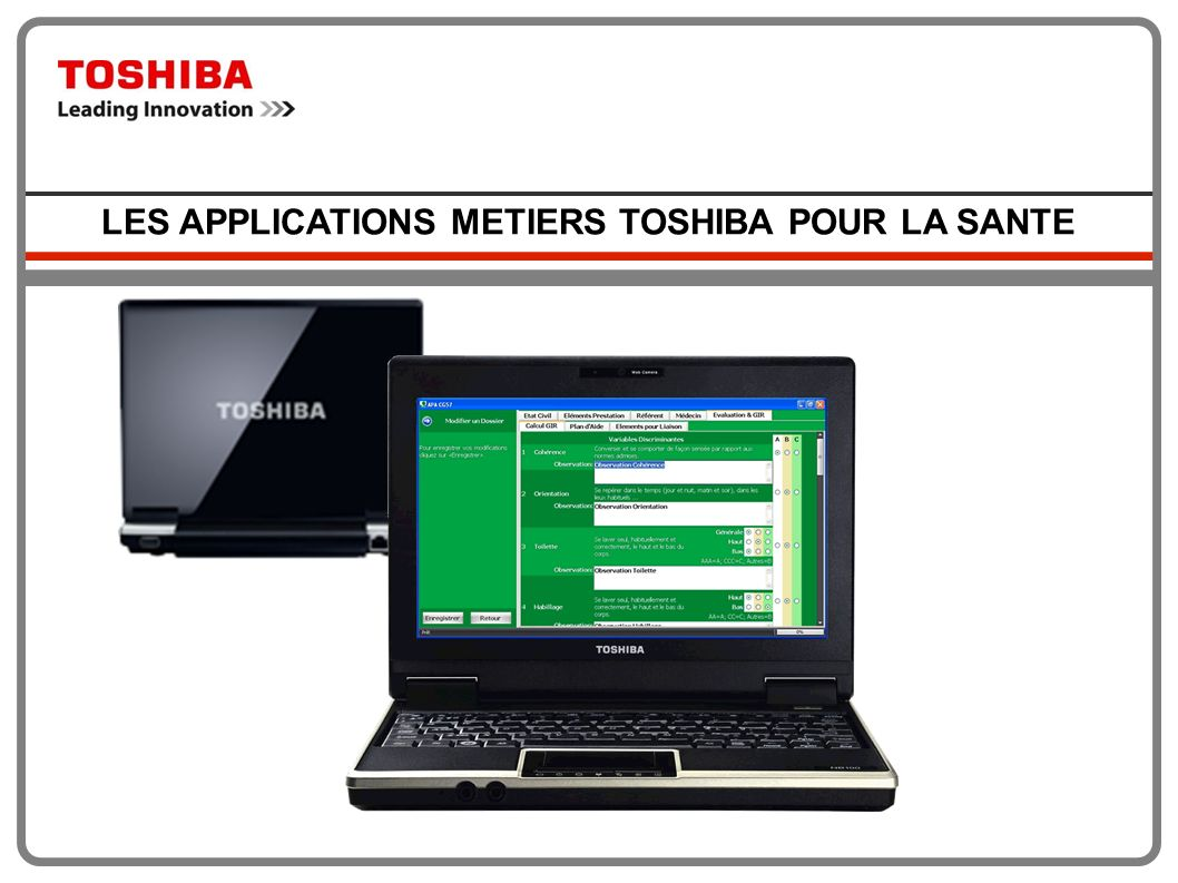 LES APPLICATIONS METIERS TOSHIBA POUR LA SANTE