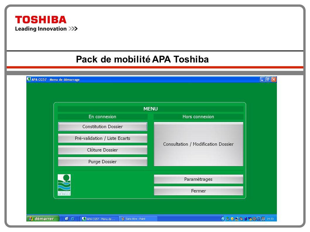 Pack de mobilité APA Toshiba
