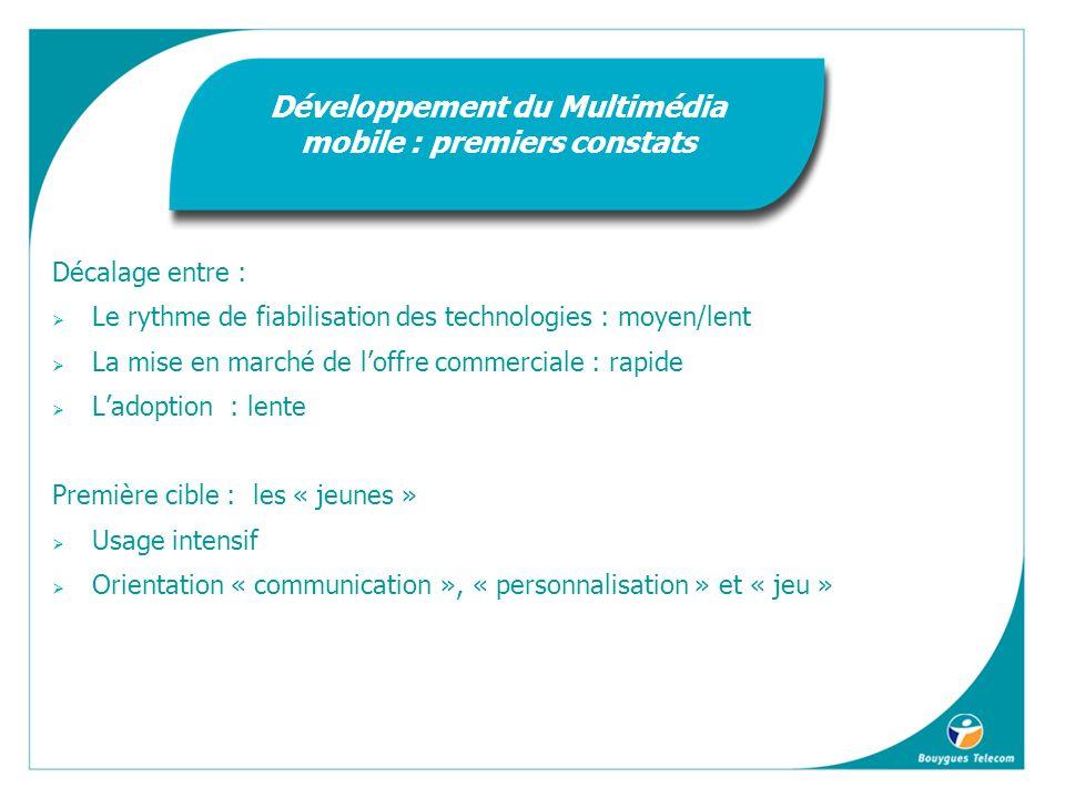 Développement du Multimédia mobile : premiers constats