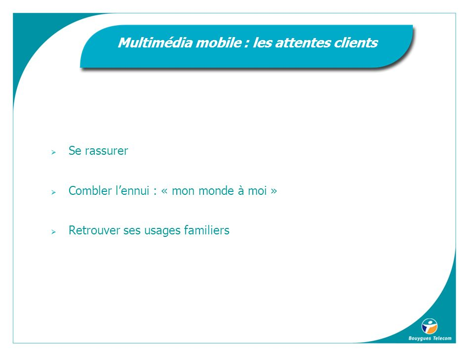 Multimédia mobile : les attentes clients